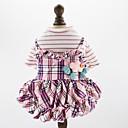 preiswerte Hundekleidung-Hunde Katzen Haustiere Kleider Hundekleidung Plaid / Karomuster Sterne Prinzessin Blau Rosa Baumwolle / Polyester Kostüm Für Haustiere