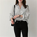 cheap Kitchen Faucets-women's shirt - striped shirt collar