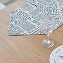 tanie Obrusy-Nowoczesny Polichlorek winylu / Włókniny Kwadrat Podkładki Geometric Shape Dekoracje stołowe 1 pcs