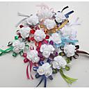 """זול מזכרות מחזיקי מפתחות-פרחי חתונה זר פרחים לפרק כף יד חתונה / אירוע מיוחד משי / קֶצֶף 0-10  ס""""מ"""