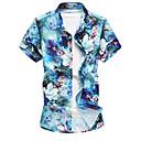זול צמידי גברים-פרחוני סגנון סיני חולצה - בגדי ריקוד גברים / שרוולים קצרים