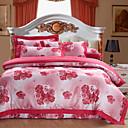זול שמיכה מכסה אדומה סינית-סטי שמיכה פרחוני 100% כותנה / כותנה ג'אקארד ג'אקארד 4 חלקים