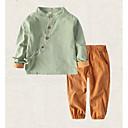 tanie Zestawy ubrań dla chłopców-Dzieci Dla chłopców Aktywny Jendolity kolor Długi rękaw Komplet odzieży