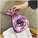 זול תיקי צד-בגדי ריקוד נשים שקיות PU תיק כתף רוכסן כסף / ורוד מסמיק / פוקסיה / שקיות ג'לי בלייזר