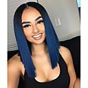 olcso Emberi hajból készült parókák-Remy haj Csipke eleje Paróka Brazil haj Egyenes Paróka Rövid Bob 130% Női Rövid Emberi hajból készült parókák