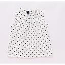 tanie Topy dla dziewczynek-Dzieci Dla dziewczynek Aktywny Groszki Bez rękawów Poliester Tanktop / koszulka na ramiączkach Biały