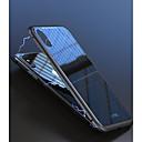 זול מגנים לטלפון & מגני מסך-מגן עבור Apple iPhone X / iPhone 8 / iPhone 8 Plus עמיד בזעזועים / מגנטי כיסוי אחורי אחיד קשיח זכוכית משוריינת / אלומיניום ל iPhone X /