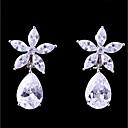 povoljno Naušnice-Žene Kubični Zirconia Klipse Naušnice Cvijet Moda Elegantno Jewelry Obala Za Vjenčanje Večer stranka 1