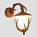 abordables Lámparas Colgantes-Mate Vintage / Campestre Lámparas de pared Comedor / Habitación de estudio / Oficina / Interior Resina Luz de pared 110-120V / 220-240V