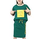 ieftine Seturi Îmbrăcăminte Fete-Copii Fete Activ Mată Manșon scurt Set Îmbrăcăminte