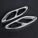 billige Bilklistremerker-2pcs 20mm Eksos Tailpipe Tips Bøyd Metall Lyddempere For Mercedes-Benz E300L / E200L / E260L 2018 / 2017 / 2016
