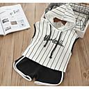 ieftine Seturi Îmbrăcăminte Fete-Copil Unisex De Bază Dungi Fără manșon Bumbac Set Îmbrăcăminte Alb 100