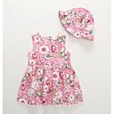 preiswerte Kleider für Babys-Baby Mädchen Aktiv Blumen Ärmellos Baumwolle Kleid Rosa