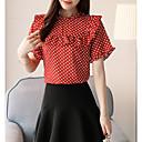 baratos Sandálias Femininas-Mulheres Blusa Básico Estampado, Poá