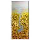 preiswerte Abstrakte Gemälde-Hang-Ölgemälde Handgemalte - Abstrakt Landschaft Zeitgenössisch Modern Segeltuch