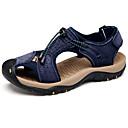 baratos Sandálias Masculinas-Homens Pele Verão Conforto Sandálias Azul Escuro / Castanho Claro / Khaki
