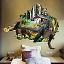 ieftine Acțibilde de Perete-Autocolante de Perete Decorative / Autocolante de Frigider - Autocolante perete plane / 3D Acțibilduri de Perete Peisaj / #D Dormitor /