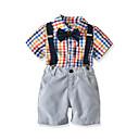 cheap Bracelets-Toddler Boys' Color Block Short Sleeves Clothing Set