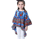 tanie Zestawy ubrań dla dziewczynek-Brzdąc Dla dziewczynek Aktywny Nadruk Falbany / Nadruk Rękaw 3/4 Bawełna T-shirt / Urocza