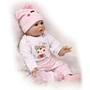 hesapli Yeniden Doğmuş Bebekler-NPKCOLLECTION NPK DOLL Yeniden Doğmuş Bebekler 24 inç Silikon - Yeni doğan canlı Tatlı Çocuk Kilidi Non Toxic El Uygulamalı Kirpikler Kid Unisex / Genç Kız Oyuncaklar Hediye / CE / Disket kafa