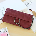 cheap Men's Bracelets-Women's Bags PU Leather Wallet Buttons Red / Gray / Brown