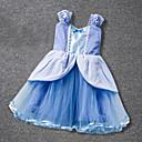 abordables Robes pour Filles-Bébé Fille Rétro / Basique Soirée / Anniversaire Mosaïque Mosaïque Sans Manches Au dessus du genou Coton / Polyester Robe Bleu