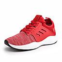 זול נעלי בד ומוקסינים לגברים-בגדי ריקוד גברים PU קיץ נוחות נעלי אתלטיקה ריצה / כושר וחיטוב שחור / אפור / אדום