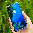 זול מגנים לטלפון & מגני מסך-מגן עבור Apple iPhone X / iPhone 8 שקוף / צבע הדרגתי כיסוי אחורי צבע הדרגתי קשיח PC ל iPhone X / iPhone 8 Plus / iPhone 8