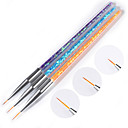 cheap Rhinestone & Decorations-3 Pieces Nail Art Tool Nail Brushes nail art Manicure Pedicure Professional Daily Wear