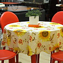 preiswerte Kuchenbackformen-Landhaus Stil PVC Kreisförmig Tischdecken Blumen Tischdekorationen 1 pcs