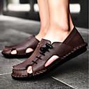 ieftine Sandale Bărbați-Bărbați Pantofi de confort Piele Vară Sandale Negru / Maro Deschis / Maro Închis / În aer liber