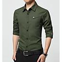 baratos Mangueiras de LED-Homens Camisa Social Negócio Sólido