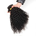 tanie Dopinki naturalne-4 zestawy Włosy euroazjatyckie Curly Włosy naturalne Fale w naturalnym kolorze / Doczepy z naturalnych włosów Kolor naturalny Ludzkie włosy wyplata Rozbudowa / Gorąca wyprzedaż Ludzkich włosów