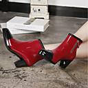 זול מגפי נשים-בגדי ריקוד נשים נעליים עור PVC אביב מגפי גשם מגפיים חסום את העקב שחור / אדום / חאקי