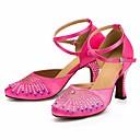 זול נעליים מודרניות-בגדי ריקוד נשים נעליים מודרניות משי עקבים סלים גבוהה עקב נעלי ריקוד שחור / פוקסיה / הצגה / אימון