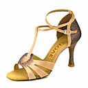 baratos Artigos para Cílios-Mulheres Sapatos de Dança Latina / Sapatos de Salsa Cetim / Seda Sandália / Salto Presilha / Cadarço de Borracha Salto Personalizado