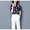 hesapli Bileklikler-Kadın's Bluz Püskül, Solid Vintage Siyah ve Beyaz