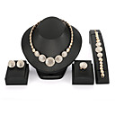cheap Rings-Women's Rhinestone Vintage Jewelry Jewelry Set Jewelry Set - Gold