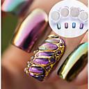 billige Heldekkende negleklistremerker-2pcs / 4stk Glimmer Glans Neglekunst Manikyr pedikyr Speil Effekt / Nail Glitter Bryllup / Fest