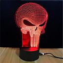 baratos Novidades em Iluminação-1pç Luz noturna 3D Mudança USB O stress e ansiedade alívio / Cores Variáveis / Criativo 5 V