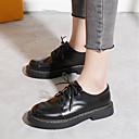 ieftine Oxfords de Damă-Pentru femei Pantofi PU Primăvară Confortabili Oxfords Toc Drept Negru