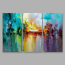 cheap Abstract Paintings-Oil Painting Hand Painted - Abstract Modern Others