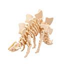 tanie Modele i zestawy modeli-Zabawki 3D Dinozaur Jurajski / Stegozaur / Tyranozaur Kreskówka 3D / Chłodny Słowo / Fraza / Interakcja rodziców i dzieci Drewniany 2 pcs Doroślu Wszystko Prezent