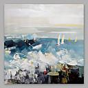 halpa Abstraktit maalaukset-Hang-Painted öljymaalaus Maalattu - Abstrakti Moderni Others