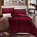cheap Solid Duvet Covers-Duvet Cover Sets Solid Colored Polyster Reactive Print 3 Piece