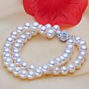 cheap Modern Shoes-Women's Pearl / Freshwater Pearl Strand Bracelet - S925 Sterling Silver, Freshwater Pearl Flower Classic, Natural, Elegant Bracelet White For Gift / Daily