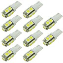 abordables Luz Ambiente LED-10pcs T10 Coche Bombillas 2W SMD 5050 90lm 9 LED Luces interiores For Universal / Motores generales Universal Universal