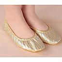זול טבעות-בגדי ריקוד נשים נעלי בלט קנבס שטוחות שטוח נעלי ריקוד זהב / אימון