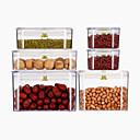 billige Syntetiske parykker uten hette-Høy kvalitet med Plastikker / silica Gel Hermetisering & Preservering / deksler / Oppbevaringskasser For kjøkkenutstyr Kjøkken Oppbevaring 6 pcs
