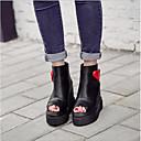 זול סנדלי נשים-בגדי ריקוד נשים נעליים PU קיץ נוחות סנדלים פלטפורמה שחור